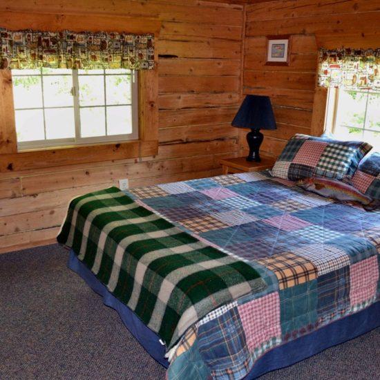 Fishermans Cabin bedroom 1 at Box Canyon Cabins, Seward, AK.