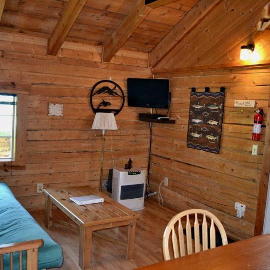 Fishermans Cabin den at Box Canyon Cabins, Seward, AK.