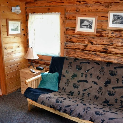 Peterson Cabin den at Box Canyon Cabins, Seward, AK.