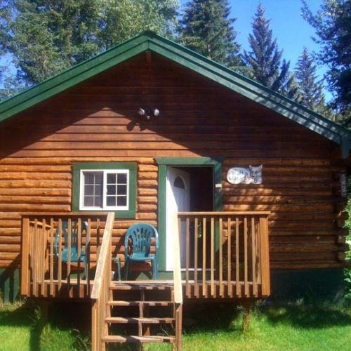 Wolf's Den Cabin at Box Canyon Cabins in Seward, AK.